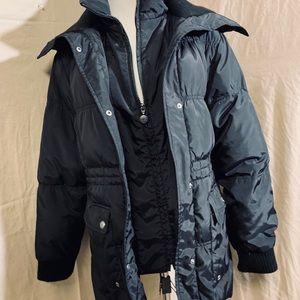 Betsy Johnson Puffer Coat, Lg, Very Warm, Black